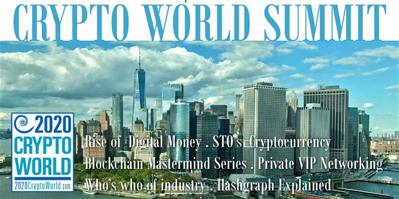 'The Future of Security Tokens', 2020 Crypto World Summit, to Address Latest Blockchain Developments