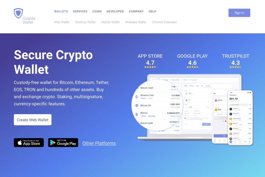 Guarda Wallet – a hot wallet for crypto management