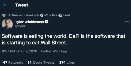 ¿DeFi se está comiendo a Wall Street?